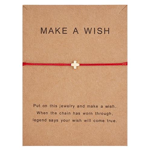 Регулируемый браслет с бумажными карточками в форме бабочки, звезды, короны, Круглый тканый браслет ручной работы, Простые Модные женские ювелирные изделия, подарки - Окраска металла: 12
