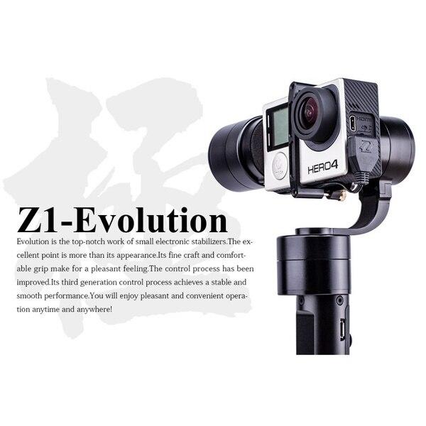 Evo 3 z1-evolution eixo estabilizador handheld brushless gimbal para gopro hero 4 xiaomi yi sj4000 sj5000 esporte câmeras