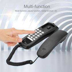 Hotel Domestica Cablata Telefono Telefon Con Mute Ricomposizione Pausa Mini Telefono Comodino lampada Da Parete Batteria di Estensione di Rete Fissa Telefono Nero Bianco