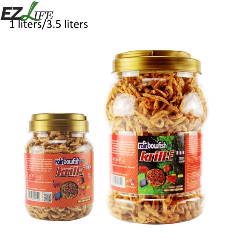 EZLIFE Cichlid Turtle Carnivore Fish Food Freeze Dried Shrimp Krill Fish Feed Food Aquarium Fish Shrimp Food PXP7262 #109
