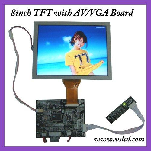 VGA AV OSD LCD Controller Board KYV-N2 V1+8 EJ080NA-05A AT080TN52 800X600 LCD Screen vga av lcd controller board kyv n2 v1 kit 8inch 800x600 lcd panel ej080na 05b