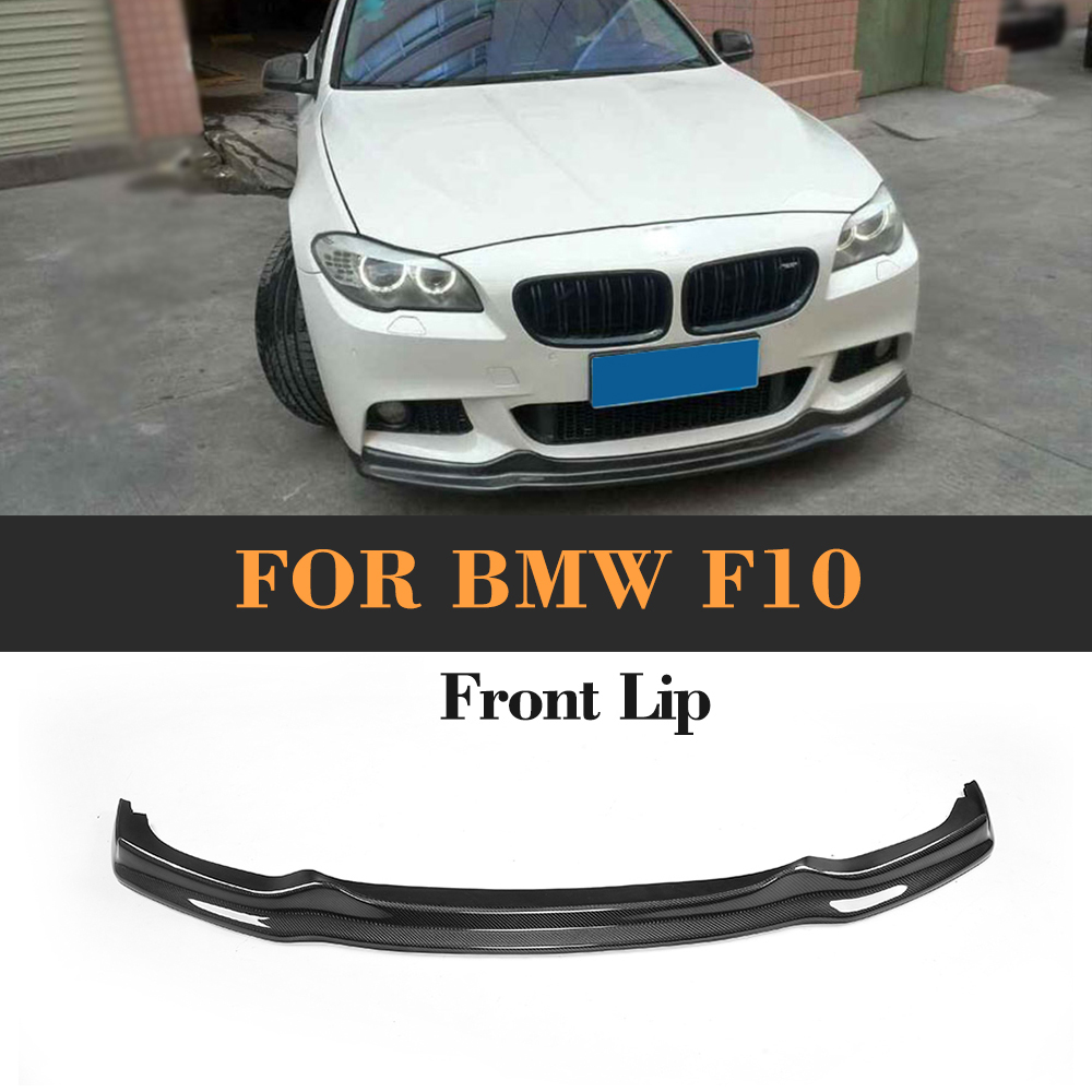 hight resolution of carbon fiber front bumper lip diffuser for bmw f10 m sport 2010 2016 520i 525i 530i 535i 550i 518d 520d 525d 535d m550d