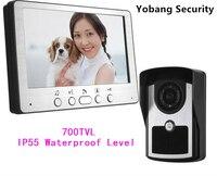 Yobang Freeship 7 Polegada Telefone Video Da Porta de Segurança de Monitoramento de Vídeo Intercom Doorbell Night Vision Câmera À Prova D' Água Ao Ar Livre