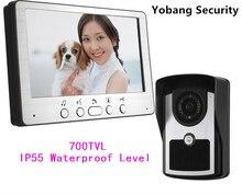 Yobang Security Freeship 7 Inch Video Door Phone Video Monitoring Intercom Doorbell Night Vision Waterproof Outdoor Camera