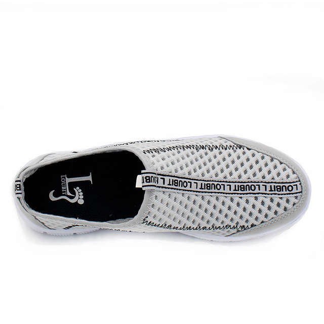 Men Shoes Loafers 2017 Summer Breathable Mesh Shoes Slip On Fashion Men Loafers Summer Light Casual Shoes 36-48