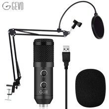 Micro USB 192KHZ/24BIT Kit de Microphone à condensateur micros Podcast micro de Studio dordinateur avec jeu de puces sonores professionnel