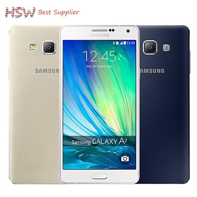 100% Original Samsung Galaxy A7 A7000 4G LTE Mobile phone Octa-core 1080P 5.5'' 13.0MP 2G RAM 16G ROM Dual SIM Smartphone