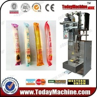 Relay 5 300ml Liquid Ice Lolly Packing Machine , High Effeicieny Automatic Liquid Ice Pop /jelly Stick Filling