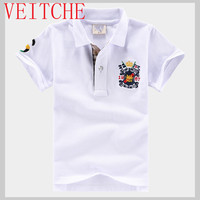 Children S Clothing Boys Short Sleeve Summer Shirts Cotton Jersey Kids For 4 16 Years Turn