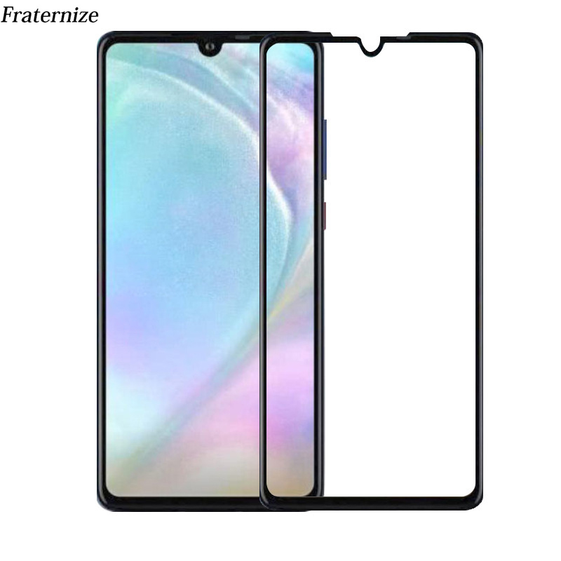 50pcs Tempered Glass For Huawei P30 Lite P30 Pro Full Glue Screen Protector Protective Film For