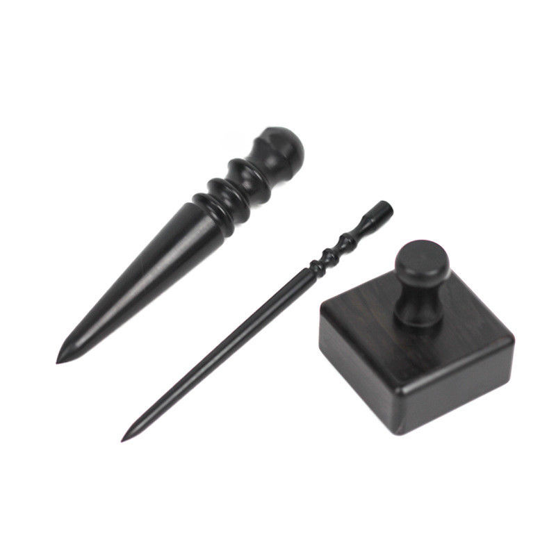 Leather Burnishing Tool Adopting High Density Black Wood As The Material,Leather Craft Edge Burnisher,Hand Burnishing Tool Thick Round Head
