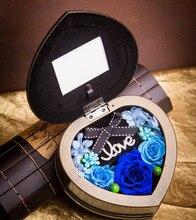Zipi Home Decoration Heart Preserved Fresh Flower Music Box Wedding Decorations Birthday Christmas Valentine Gifts
