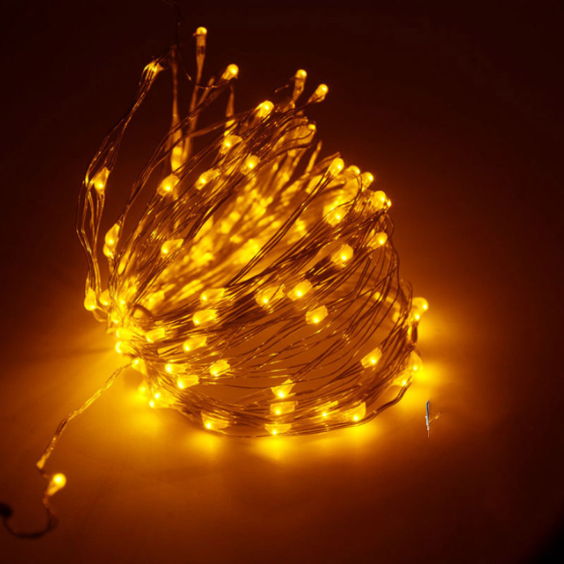 SPLEVISI 50M 164Ft 500 Led Light Copper LED Light String Light Starry - Pencahayaan perayaan - Foto 3
