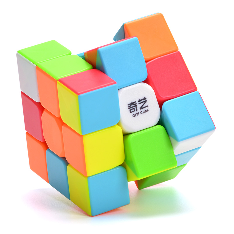 QIYI Warrior 3x3 Magic Cube Solid Color Educational Learning Toys Puzzles Boys Toys Magico Cubo Christmas Gift Puzzle Cube