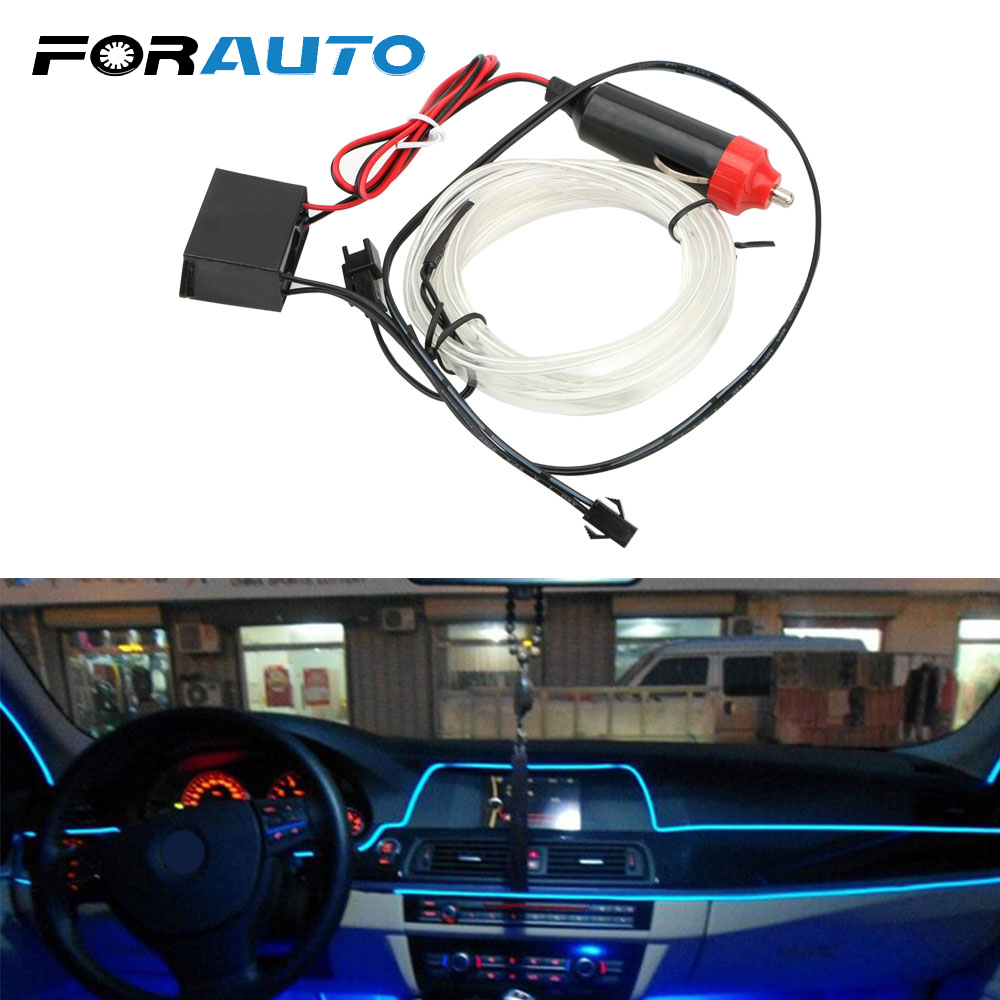 Car Lights Automobiles & Motorcycles Precise Forauto Decorative Lamp 2m Car 12v Led Cold Lights Car Styling Auto Lamps Interior Decoration Flexible Neon El Wire Light Strips Rich And Magnificent