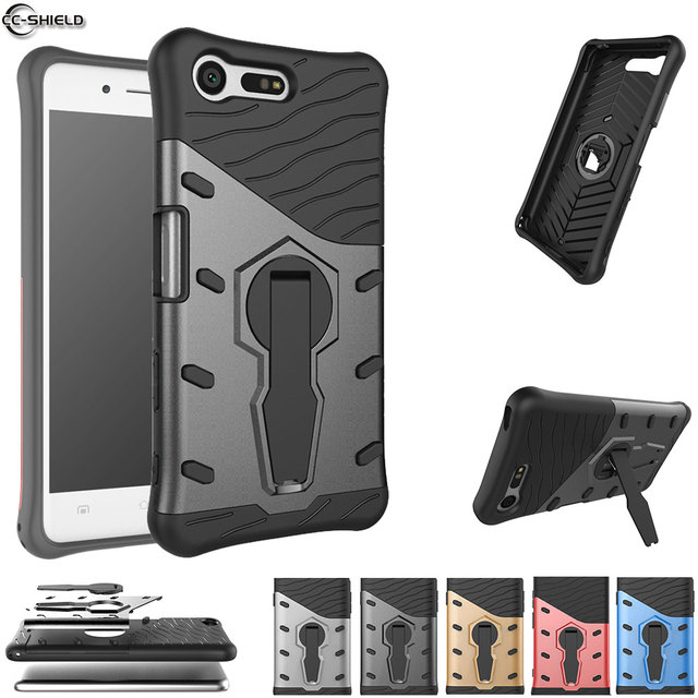 huge discount 13721 247de US $4.41 6% OFF Fitted Case For Sony Xperia X Compact Armor Case Phone  Cover For Sony X Compact F5321 F 5321 silicon Bumper Black Gold coque  TPU-in ...
