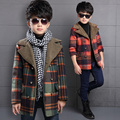 The boy wool coat in winter coat child child woolen coat in the long thick children tide baby girl boy clothes
