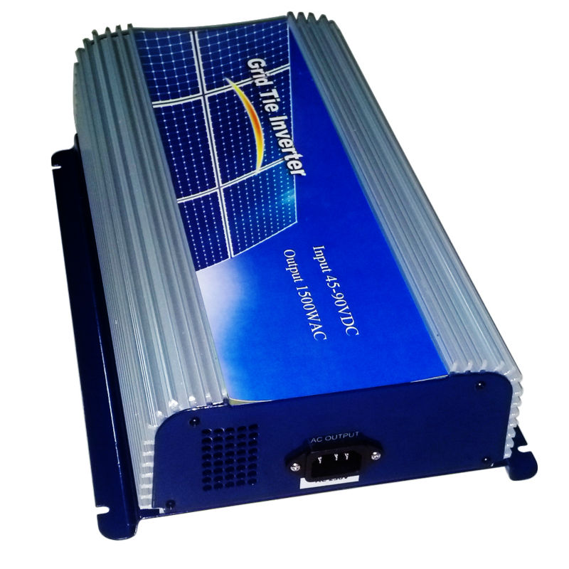 MAYLAR@ 1500W Grid Tie Power Inverter Pure Sine Wave Inverter 1.5KW 45-90VDC to AC 220VAC Solar Grid Tie Inverter maylar 22 60vdc 300w dc to ac solar grid tie power inverter output 90 260vac 50hz 60hz