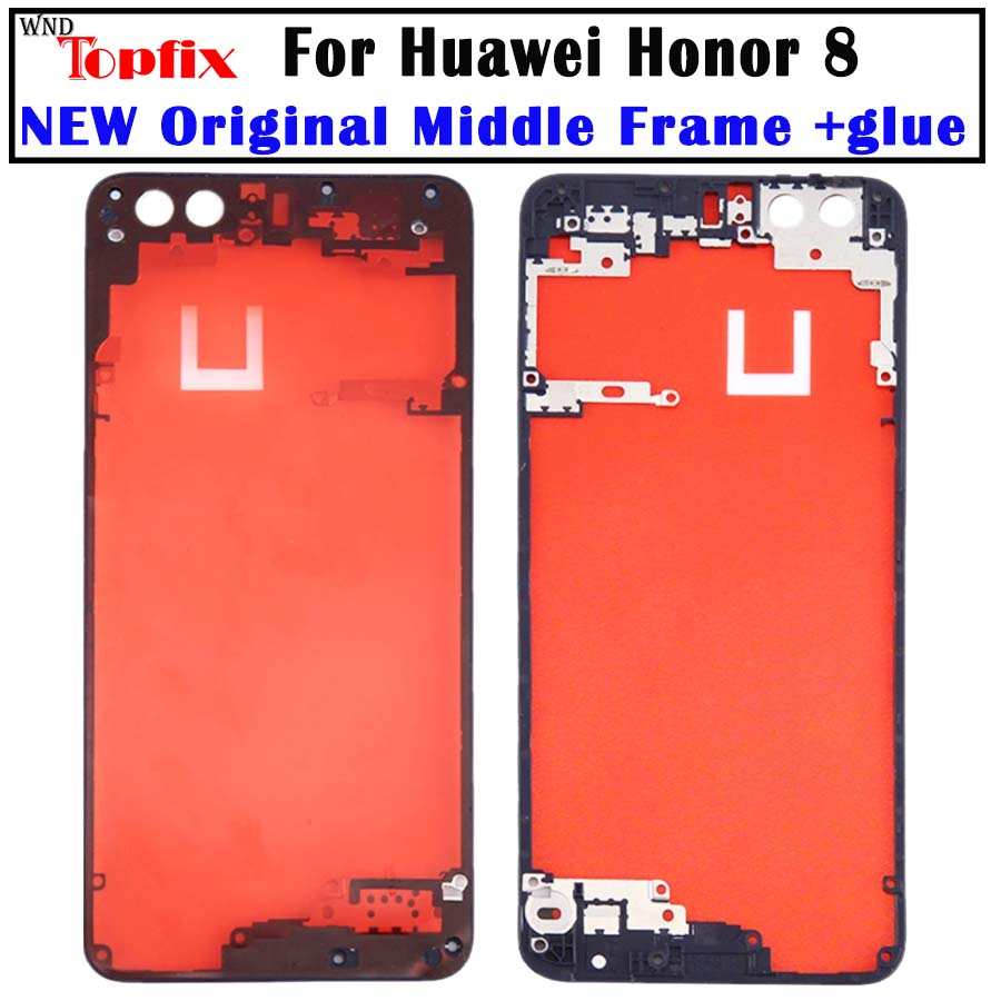 Middle Frame For HUAWEI Honor 8 Rear Bezel Plate Chassis Housing With Double-Sided Adhesive Honor 8 Back Frame Replacement