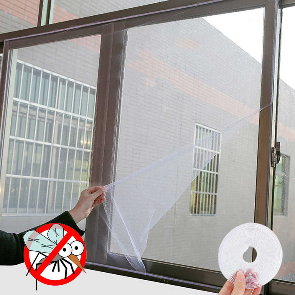 2019 Fly Mosquito Window Net Mesh Black & White Fly Gordijnen Netto Gordijn Protector Kamer DIY zelfklevende Window scherm Nieuwe