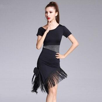 High Quality Sexy Tassel Latin Dance Dress Fringe Latin Dance Costumes for Women Fringes Long Skirt Ballroom/Tango/Rumba Dresses