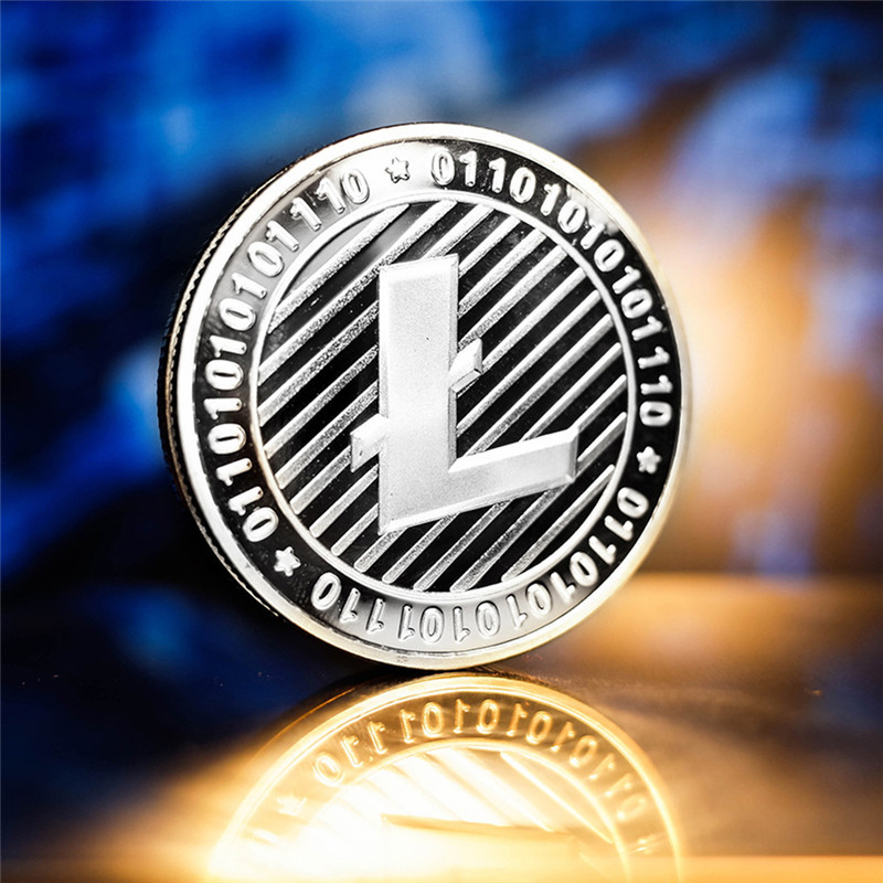New Types BTC Dash Litecoin Ethereum Coins Currency Collection Physical Gift Collection Art Antique Home Holiday Deco Imitation  2