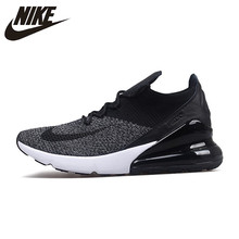on sale 2def7 6553f Nike Air Max 270 Cushion Sneakers Sport Flyknit Running Shoes Classic Black  for Men