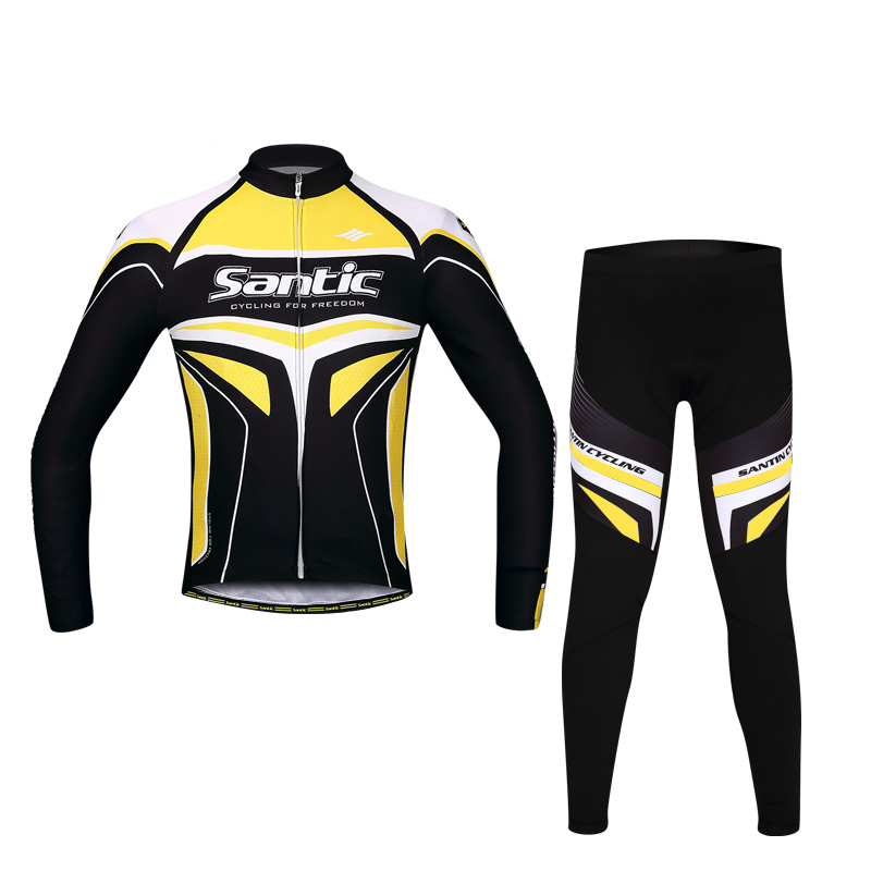 SANTIC RTS Racing Team Years of Passion Professional Long Bicycle Cycling Suit Bike Jersey 4D Pad Sportswear Ciclismo rovertime шахматы rovertime rts 56 d