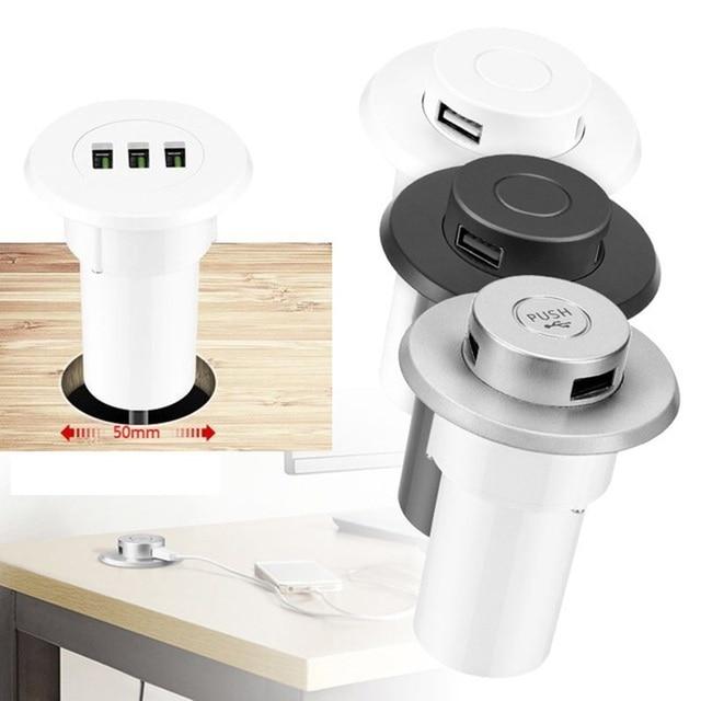 黒シルバーホワイトプッシュポップアップ Usb 電話充電秘匿フラッシュ内蔵オフィステーブルマッサージチェアソファベッド