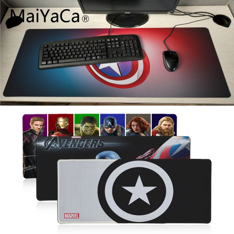 Maiyaca Captain America Winter Soldier Mouse Durable Desktop Mousepad Gamer Mouse Mat High Quality DIY Picture With Edge Locking