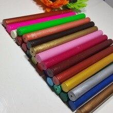Varilla de cera de sellado redonda, multicolor, barra de Tarjeta De Invitación De Boda, sello de cera, 30 piezas