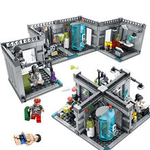 Kids Love City Police Biochemical Lab Series Legoings Model Building Blocks Technic Classic Figures Enlighten Bricks Toys(China)