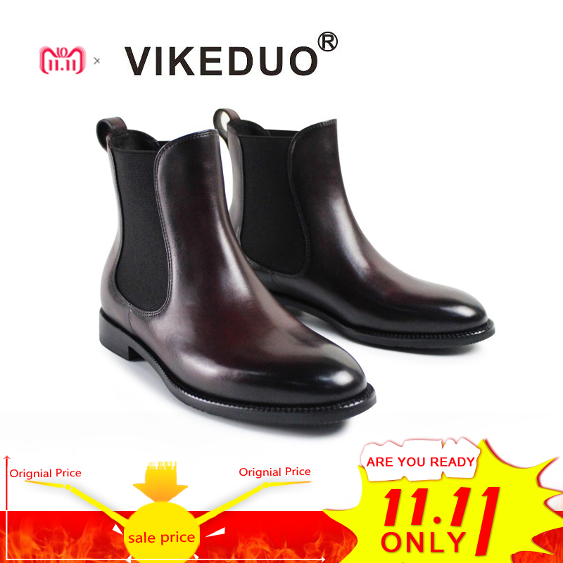 Vikeduo Designer Handmade Boot Fashion Luxury Casual Snow Winter Party Chelsea Female Leisure Dress Genuine Leather Women Boots vikeduo 2018 classic custom handmade fashion luxury office genuine leather boots designer winter snow crocodile dress men boots