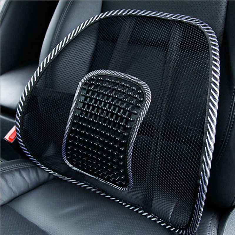 New Black Mesh Lumbar Back Brace Support Office Home Car Seat Chair Cushion Cool P16