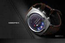 Geak Bluetooth Android Smart Uhr 4G Rom Runde TF Touchscreen Pulsmesser Schrittzähler Smartwatch für Android & IOS Telefon