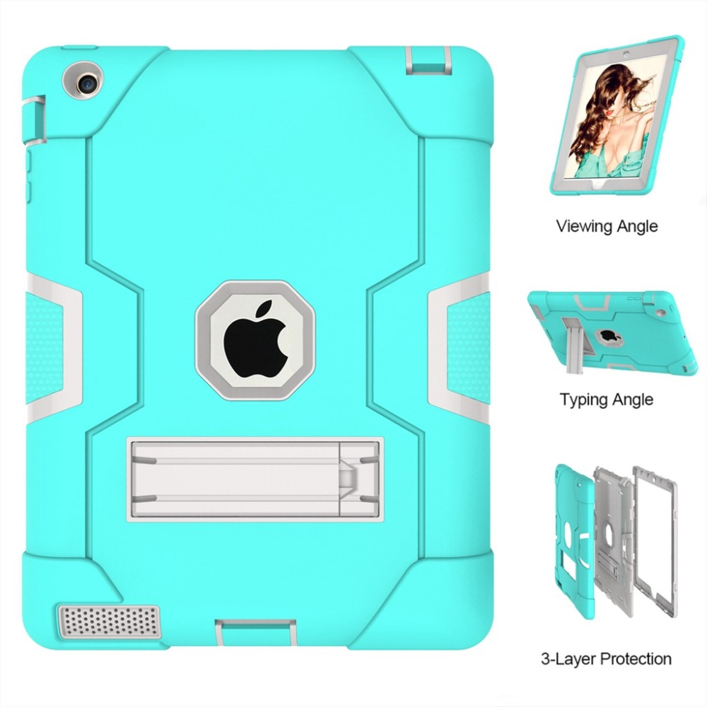 New Armor Case For iPad 2 3 4 A1458 A1460 A1459 Safe Heavy Duty Silicone Hard