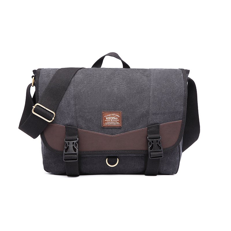 B Canvas Bag Simple Student Bag Hand Shoulder Messenger Bag Male Casua Large Crossbody Bag L-235