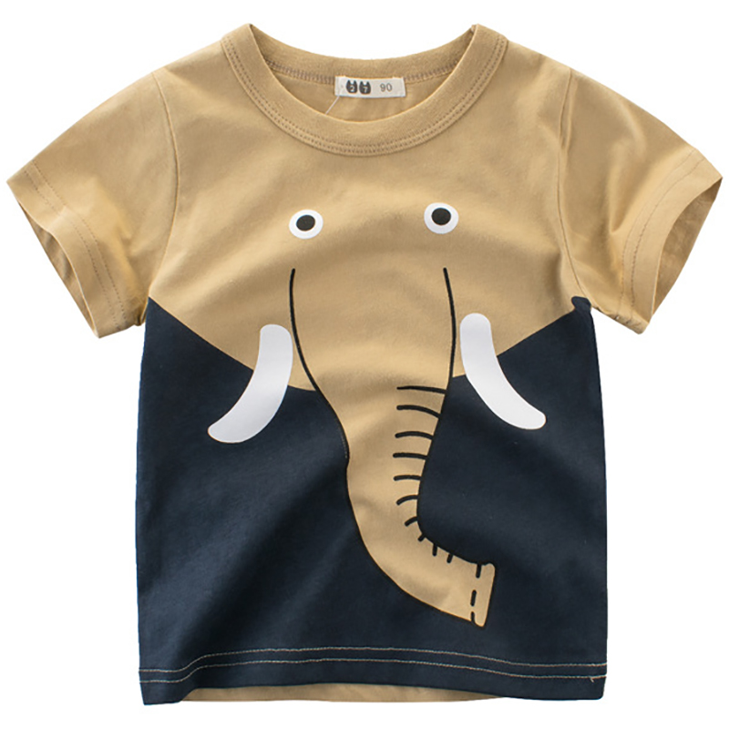 Boys T Shirts Spring 2018 Girl Short Sleeve T Shirt Cartoon Little Girls Tops Summer Boy T Shirt O-neck Cotton Toddler Tshirts cotton blends cartoon bull and letters print round neck short sleeve t shirt