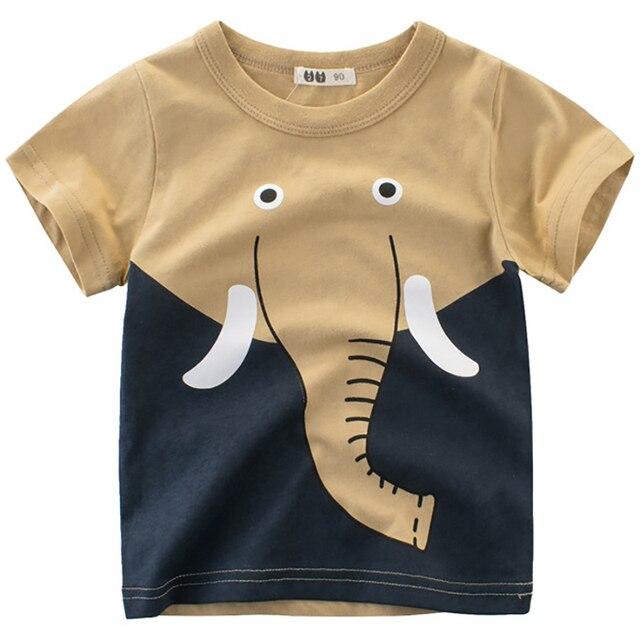 Boys T Shirts Spring 2018 Girl Short Sleeve T Shirt Cartoon Little Girls Tops Summer Boy T Shirt O-neck Cotton Toddler Tshirts