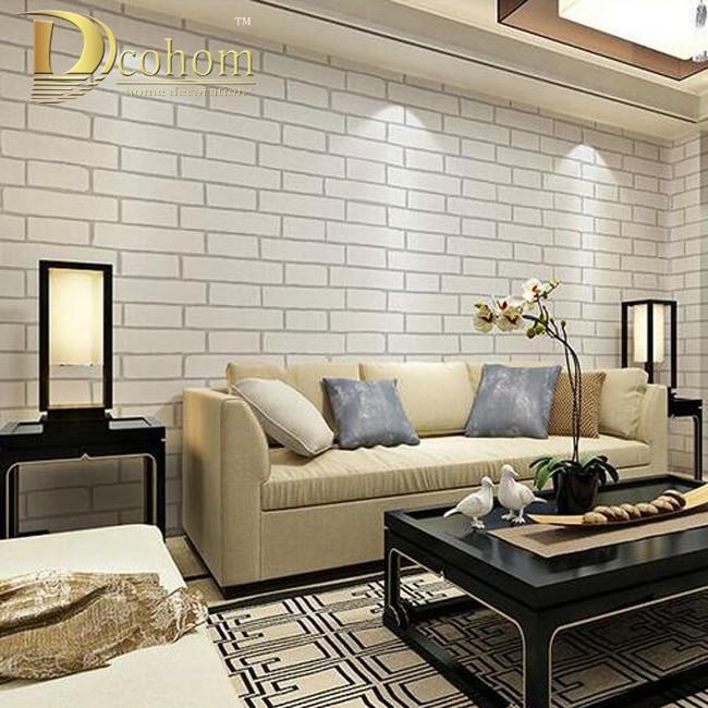moderno estilo chino de la vendimia del papel pintado del pvcde vinilo de ladrillo