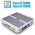 Intel Core i5 i3 minipc 7200U 7100U HYSTOU Кабы Озеро Безвентиляторный Mini PC Окна Intel HD Graphics 620 Мини-Компьютер Barebone i5