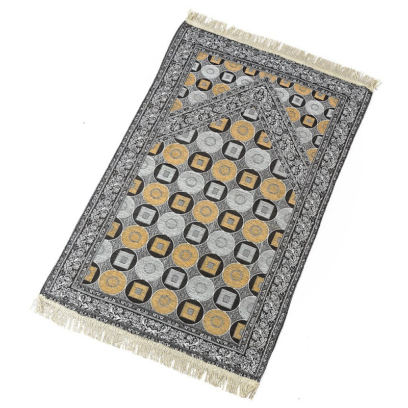 Image 5 - Geometric Pattern Thin Travelling Islamic Muslim Prayer Mat  Blanket Worship Salat Musallah Banheiro Prayer Rug Carpet TapeteMat