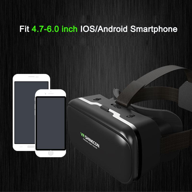 Original VR shinecon 6.0 headset version virtual reality glasses 3D glasses headset helmets smart phones Full package+GamePad 12
