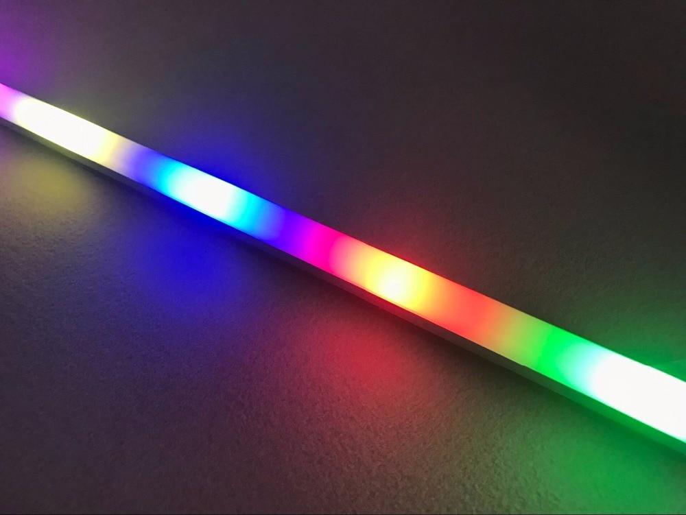 Addressable RGB Full Color 1m DC5V SK6812 LED Digital Rigid Bar;with Frosted Cover; 32pixles/60pixels/144pixels