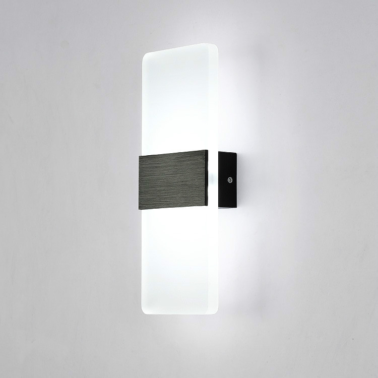 Led Modern wall light indoor lighting wall sconces wall lamp 110V 220V 8W bedroom bedside light foyer study modern aluminium wall lamp sconces with fluorescent tube for bedroom study balcony lighting bg44
