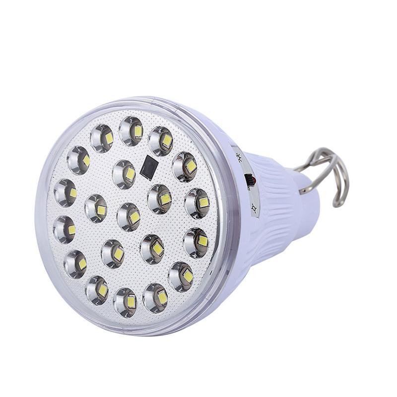 Solar Powered Led Light Bulb Portable Lamp Spotlight with Remote Control for Outdoor Hiking Camping Tent Fishing Lighting