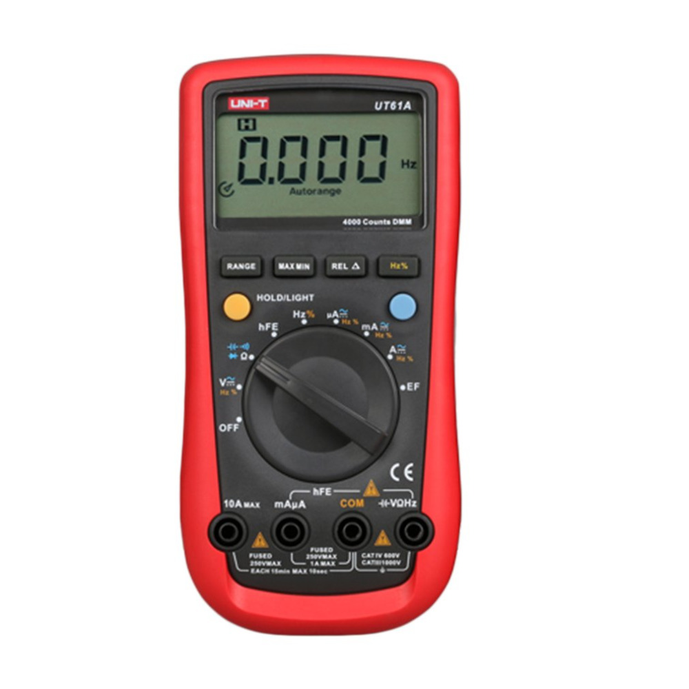 UT61A Portable Digital Multimeter Handheld Multimeter Auto Range Multitester Portable Voltmeter Tester Meter Ammeter aimo m320 pocket meter auto range handheld digital multimeter