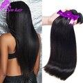 Высочайшее качество Бразильский Виргинский Волосы Прямые 4 пучки виргинский Бразильский прямые наращивание волос Бразильские прямые волосы переплетения