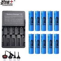 10pcs Brand new battery 18650 3.7 V 1600MAH Li ion rechargeable battery 18650 batery +1pcs 18650 16340 battery charger