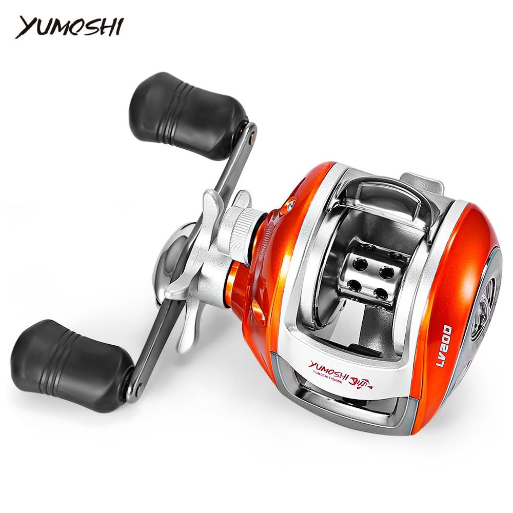YUMOSHI 12+1BB 6.3:1 Bait Casting Fishing Reel Left  Right Hand Baitcasting Reel Magnetic Brake Water Drop Wheel Coil